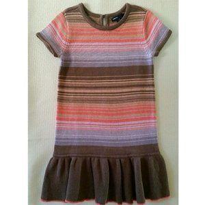 NEW GAP Desert Rose Sweater Dress Ruffle Hem